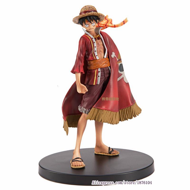 17cm Anime One Piece Luffy Teatral Sürümü Eylem Şekil Juguetes Tek Parça Rakamlar Koleksiyon Modeli Oyuncak Noel Oyuncak T191022
