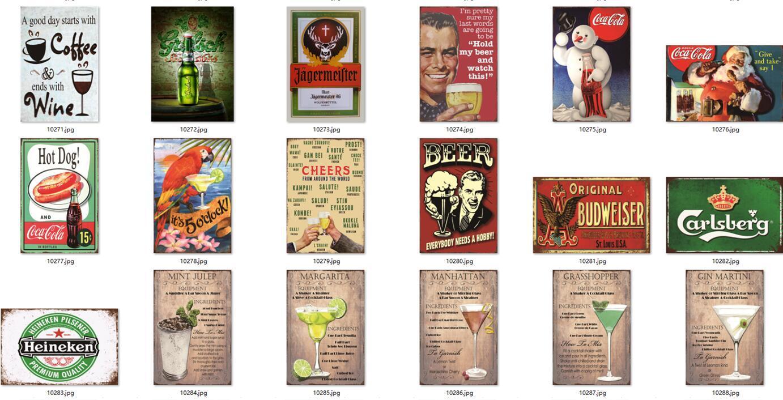 Retro cerveja da bebida de lata Pôsteres Ferro artesanato pintura de metais Placas de lata 20 * 30cm Hotel Arts decoração Bulmers chique placa do vintage para Bar casa