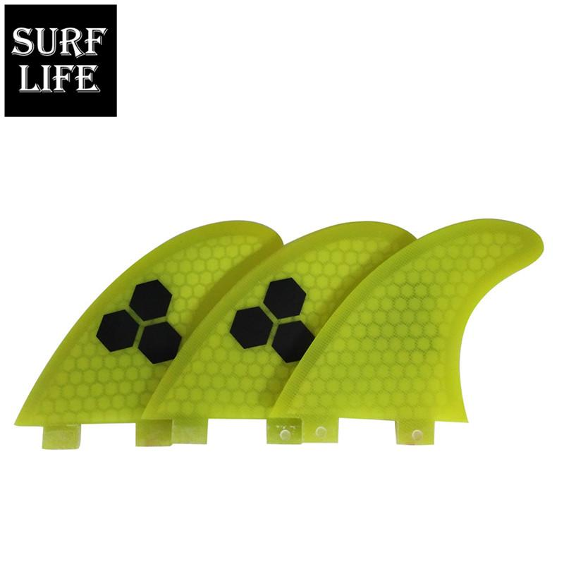 Competitive Price FCS Base Fiberglass And Honeycomb Fin Medium G5 Size Surfboard Thruster 3 Fins Set Left Medium Right Surfing Fins