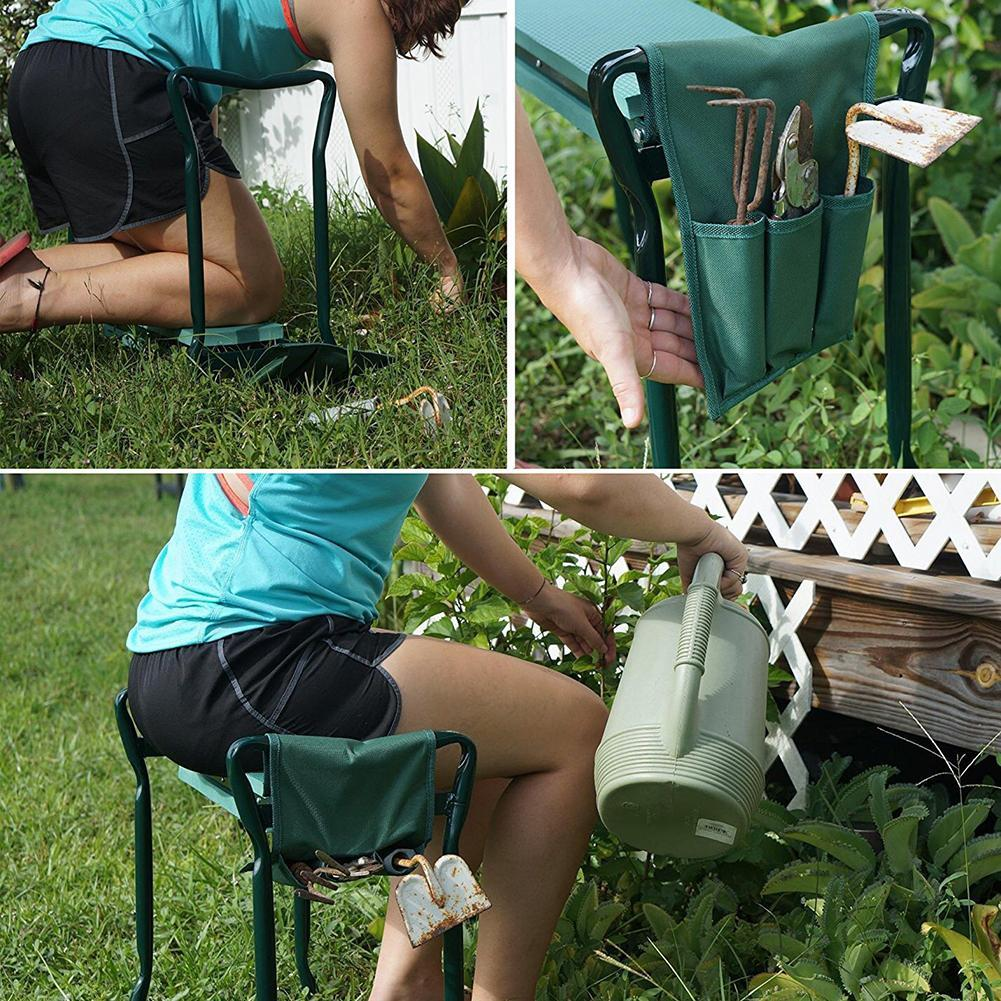 Admirable Garden Multi Functional Bench Kneeler With Handles Folding Stainless Steel Garden Stool With Eva Kneeling Pad Gardening Tools 4 Seat Cushions For Cars Cjindustries Chair Design For Home Cjindustriesco
