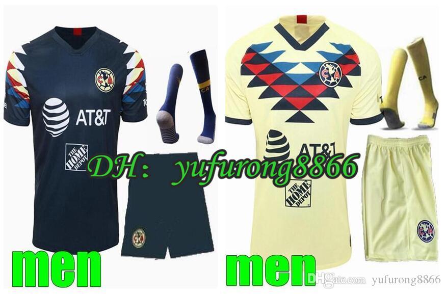Men/'s 2019-2020 Club America Mexico Home Soccer Shorts
