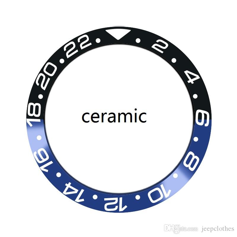 alluminio CERAMICA BEZEL PER GMT BATMAN 116710 116713 116718 OROLOGI PARTI ACCESSORI BROKEN FIX REPAIR WATCHMAKER UOMO OROLOGIO DA POLSO