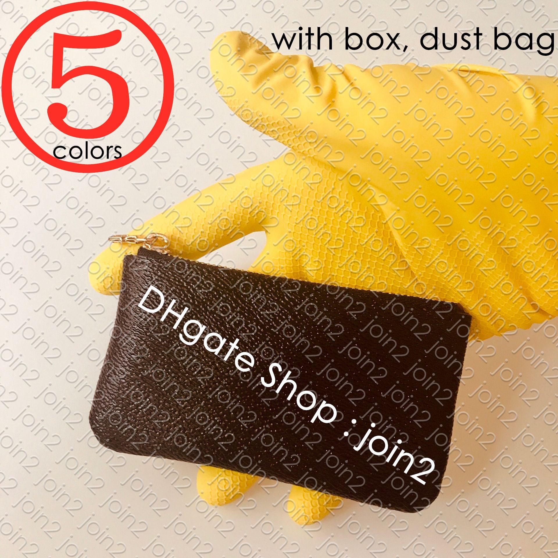 M62650 KEY POUCH POCHETTE CLES Designer Womens Mens Change Key Ring Credit Card Holder Coin Purse Mini Wallet Bag Charm Pochette Accessories