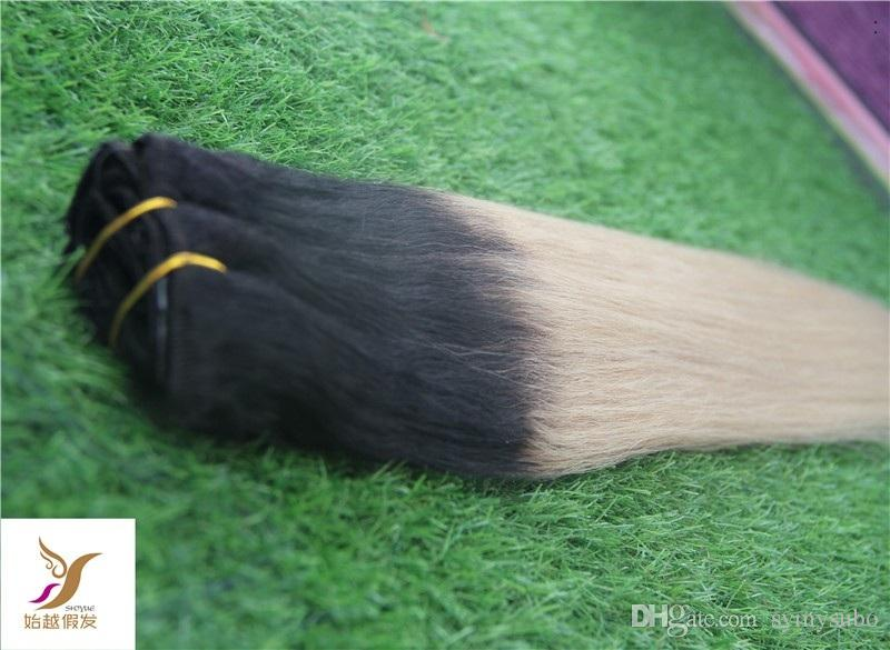 T1 / 60 Farbe Sterly Glattes Haar Bundles Nicht Remy 100% Echthaar Bundles Brasilianische Haarwebart Bundles