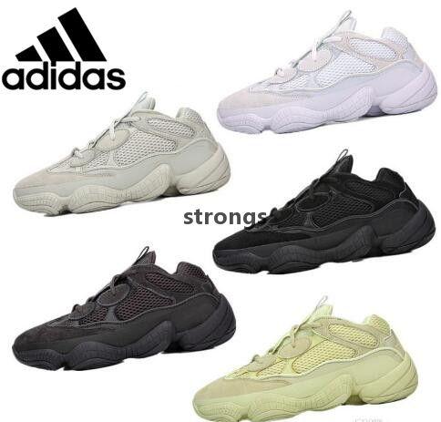 watch 3d517 121f7 2019 Original Adidas Air Yeezy 500 Blush Running Shoes Athletic DMX  CONFIRMED Desert Rat Runner Kanye West 500s Super Moon Yellow Salt Utility  Black ...