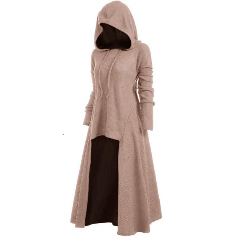 Pista coulisse Plus Size incappucciato a coste femminile maglione casual a manica lunga Alto Basso donne maglioni Pullover Ponticelli Tirare FemmeMX190927