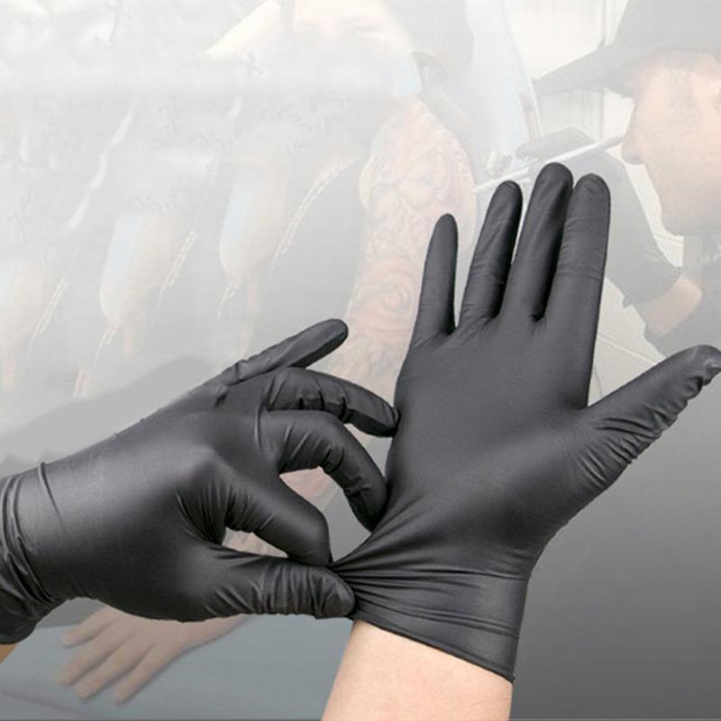 500шт одноразовые перчатки защитные нитриловые перчатки заводские салонные бытовые резиновые садовые перчатки универсальные для левой и правой руки