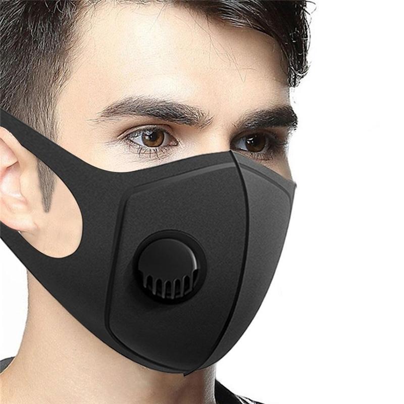 Çift Buğulanmaya ile Sünger Metal Yüz Maskesi Elastik Kafa Şeffaf Anti Splashing Toz FaShields Yeniden Ağız Masks3 2DM E1 Taraflı