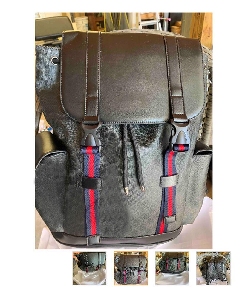 جلد طبيعي مزدوجة حقائب الكتف حقيبة الظهر للرجال والنساء مدرسة ممتازة الجودة حقائب 2020 فاخر مصمم حقيبة الظهر جودة عالية