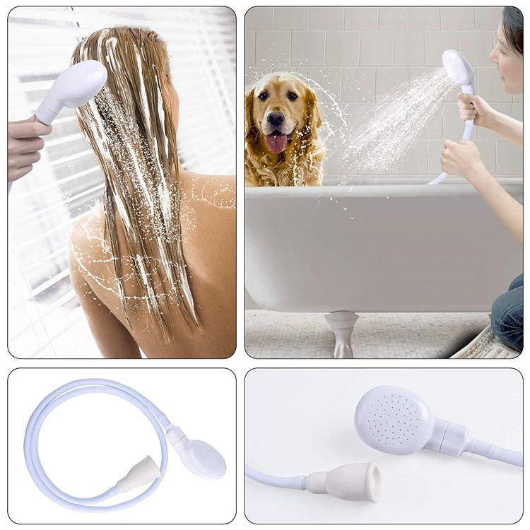 Pet Dog Cat Shower Head Multi-functional Tap Faucet Spray Drains Strainer O3