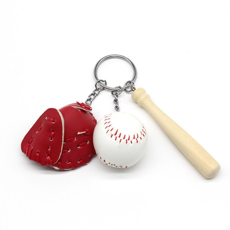 Бейсбол Трехсекционный Suite Key Buckle Спортивные Брелки Keepsake Портативный Творческий Ключи Кольцо Горячий Продавать С Различными Цветами 3 4bs J1