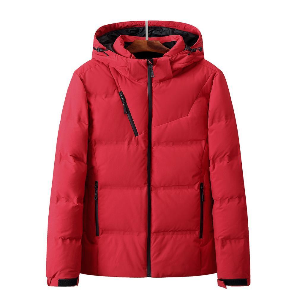 Down Jacket Men hiver Veste homme Mode chaud épais Parkas fourrure de canard blanc Manteaux Doudounes Casual homme coupe-vent