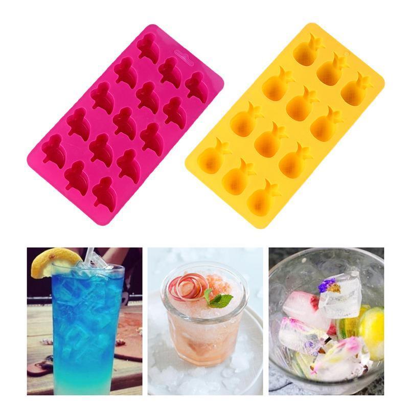 Silicone Vassoio di ghiaccio Ice Cream stampo creativo fai da te Funzione Popsicle muffa della gelatina Strumento di cucina della muffa del ghiaccio accessori per la casa cucina strumento