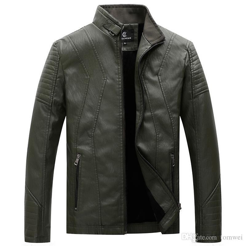 2019 Chaquetas de piel sintética para hombre Abrigos de piel Ropa de invierno Autmn Chaquetas rompevientos 5XL Abrigos abrigos calientes Abrigo Verde Marrón Negro