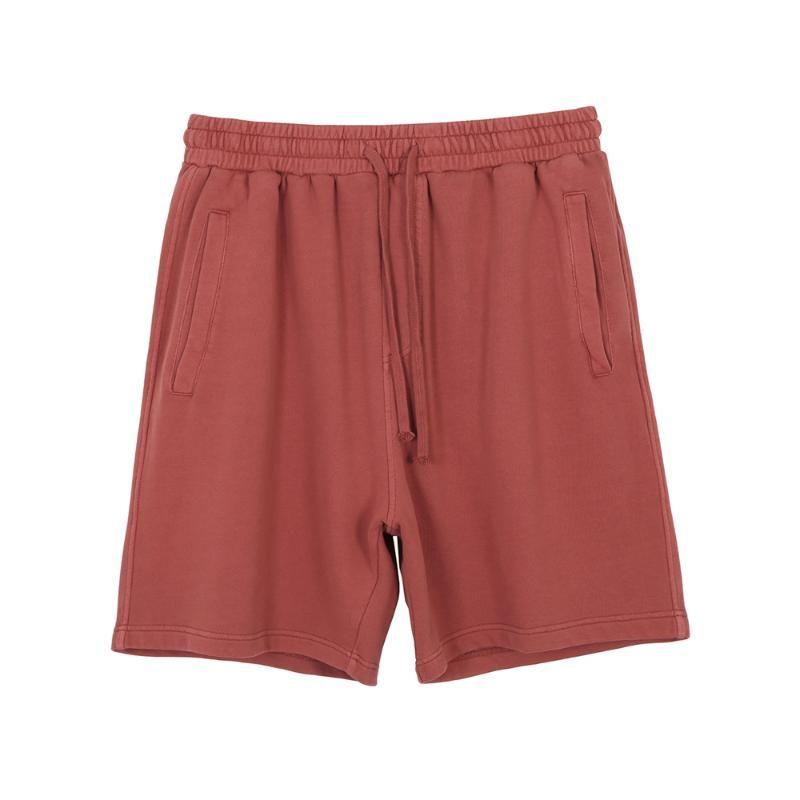 Hip hop algodón lavado sudor pantalones cortos de verano con cordón apenada del basculador de cuatro bolsillos Styling