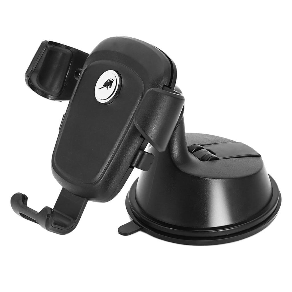 2 en 1 PU Ventouse automatique de verrouillage Support CellPhone socle pour voiture