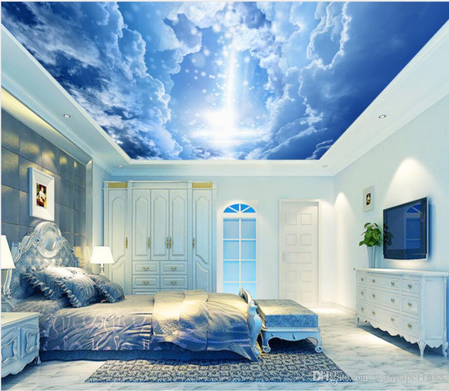 Fantasy Sky Clouds Ceiling Mural Background Wall Ceiling Wall