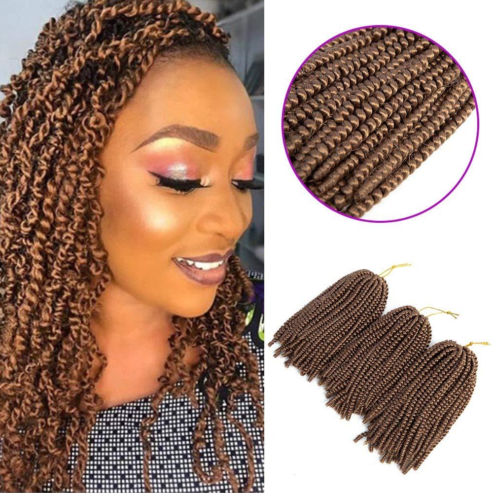 1Packs 8Inch Spring Twist Crochet Braids Braiding Hair Extensions 30Strands Low Temperature Synthetic Spring Curl Crochet Braid Hair