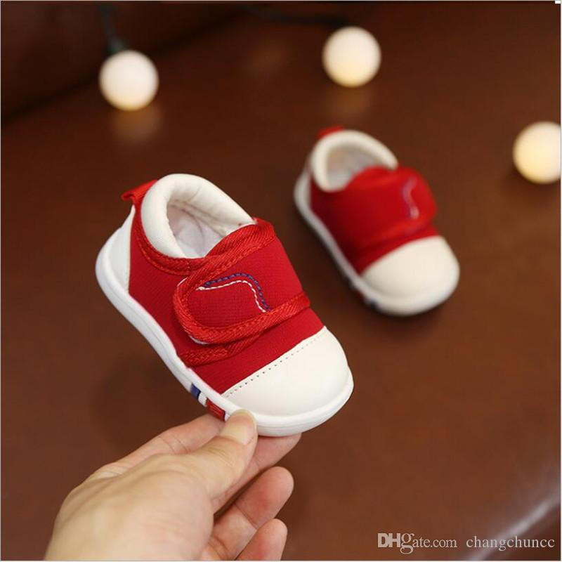 Spring Autumn Newborn Baby Toddler Shoes Breathable Solid Moccasin Shoes Baby Boy Soft Crib Canvas Casual Shoes