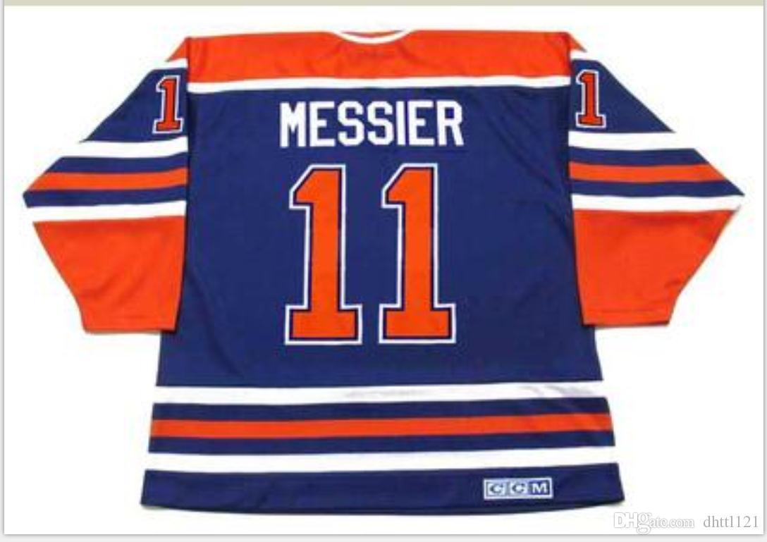 Benutzerdefinierte Männer Jugend Frauen Weinlese # 11 Mark Messier Edmonton Oilers 1990 CCM Hockey-Jersey-Größe S-5XL oder benutzerdefinierte beliebige Namen oder Nummer