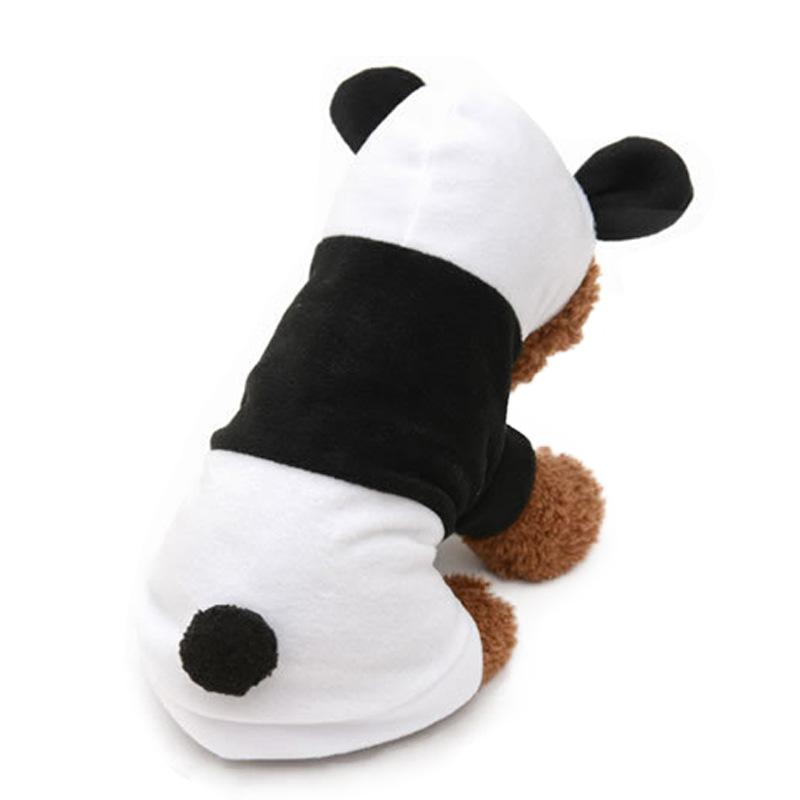 Warm Dog Clothes Pet Panda White Black Cosplay Hooded Coat Clothing For Puppy Dogs Chihuahua Teddy 2-legged Jacket Costume