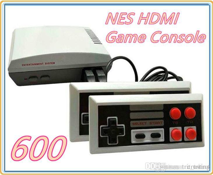 Nouveaux modèles HDMI console de jeux vidéo vidéo de poche pour 600 consoles de jeux NES Contrôleur Joypad avec boîte de détail MQ10