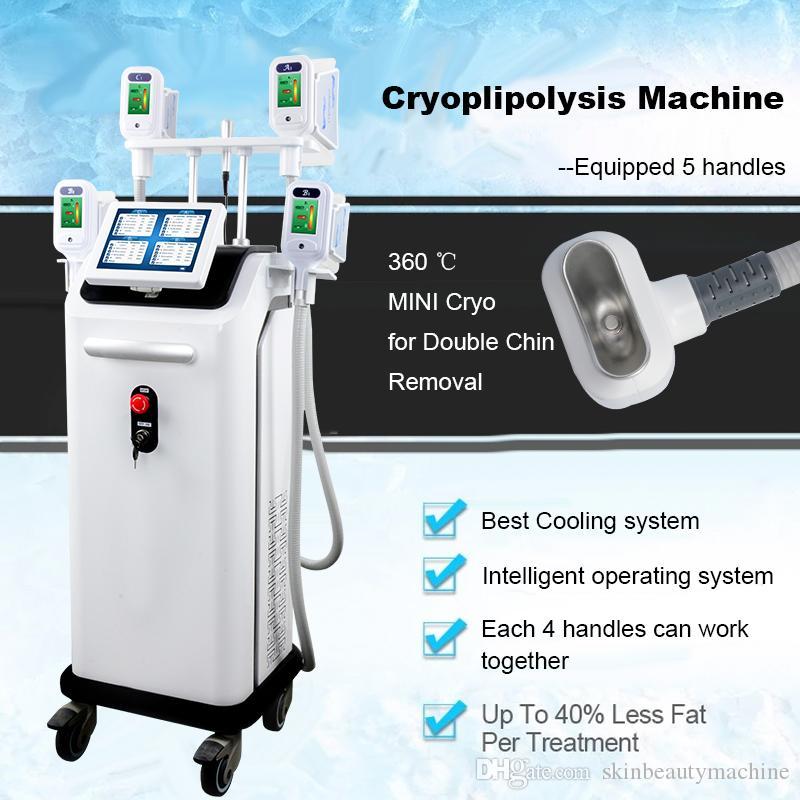 2019 New cryolipolysis Fat Gel Minceur machine Perte de poids 4 poignées lipolyse Cryo peuvent travailler ensemble CE DHL