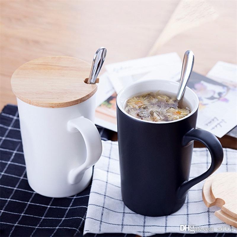 Ceramica pura amanti di colore di acqua della tazza Frosted tazze di caffè Originalità regalo Tumbler copertura Spoon Suit San Valentino porcellana 7 C1 8DY