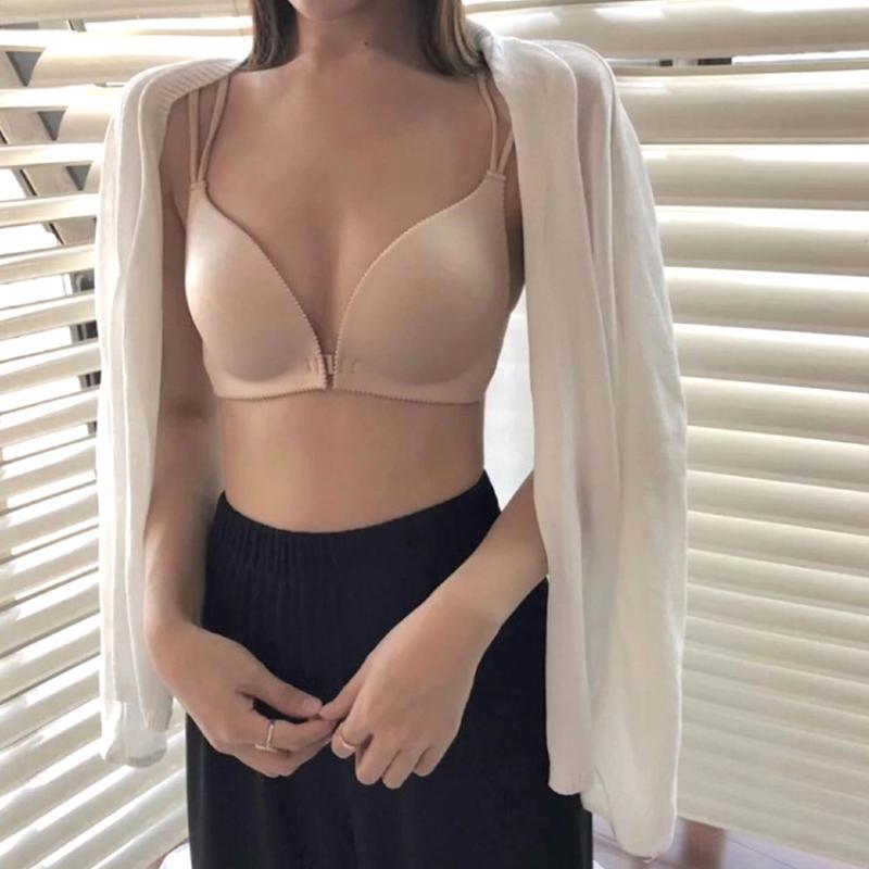 Женщины Нижнего белья провод Назад Beautify проложенного переднего Закрытие Push Up Bra Собирает Bralette Sexy Ladies