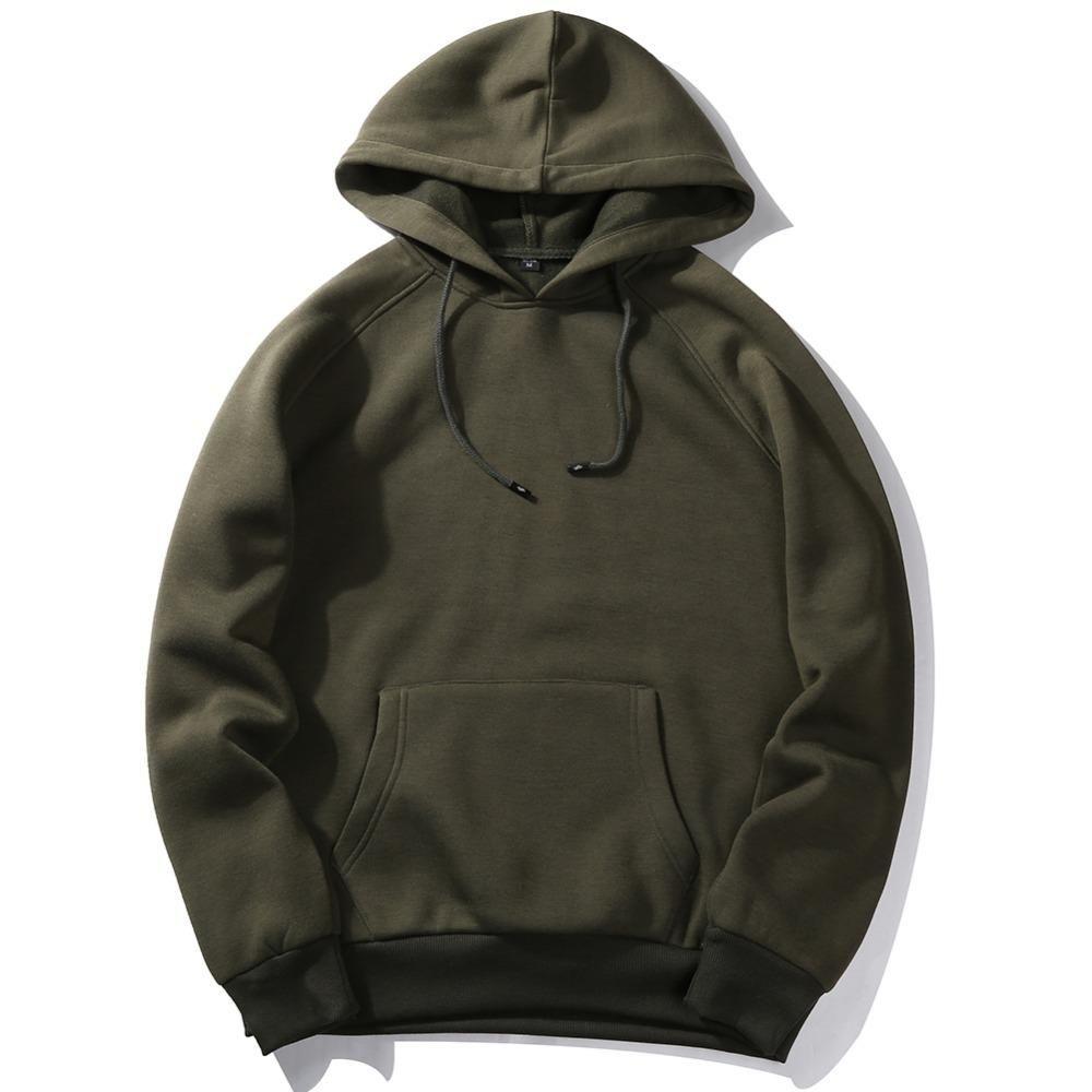 Toptan-ABD SIZE Moda Renkli Hooides Erkekler Kalın Giysiler Kış Mantolar Erkek Hip Hop Streetwear Katı Polar Hoody Man Giyim