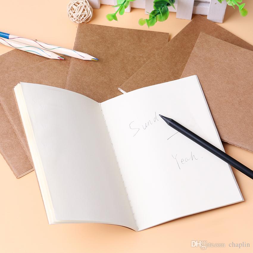 جلد البقر ورقة دفتر الملاحظات فارغة المفكرة خمر لينة يوميا المذكرات للرسم على الجدران الرسم باليد × 210 140MM قرطاسية المورد