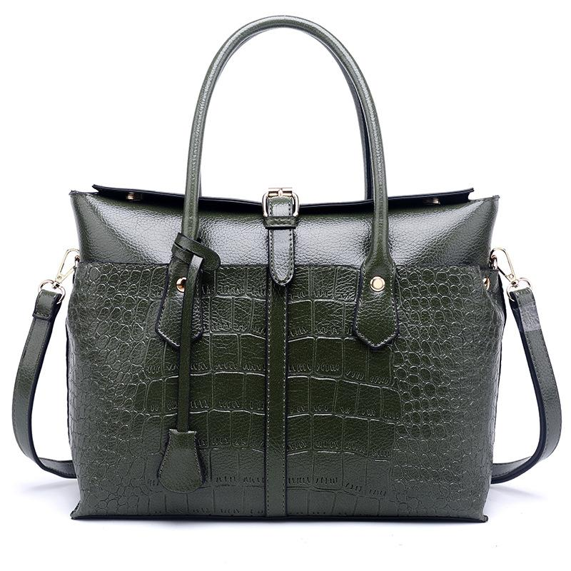 تمساح نمط حقيبة يد حقيبة جديدة دراجة نارية السيدات الكتف رسول حقيبة على الموضة للنساء إمرأة حقائب اليد والمحافظ