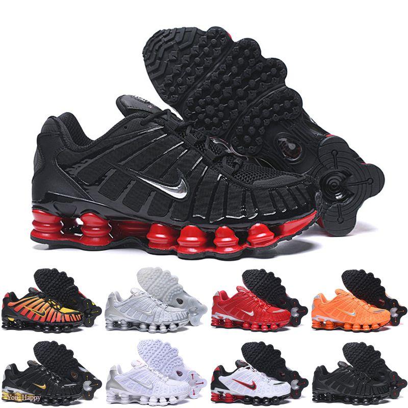 Nike Air Max Shox 2019 nuovi Mens di donne Scarpe da corsa Triple Nero Bianco Arcobaleno argento metallizzato Air Cushion formatori Designer Sport Sneakers off