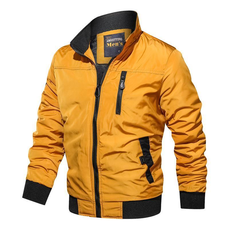 2020 Jacke Männer Mäntel Frühling Bomberjacke Männer beiläufige dünne Patchwork-Jacken Windjacke Männer Outwear Reißverschluss Thin Coat