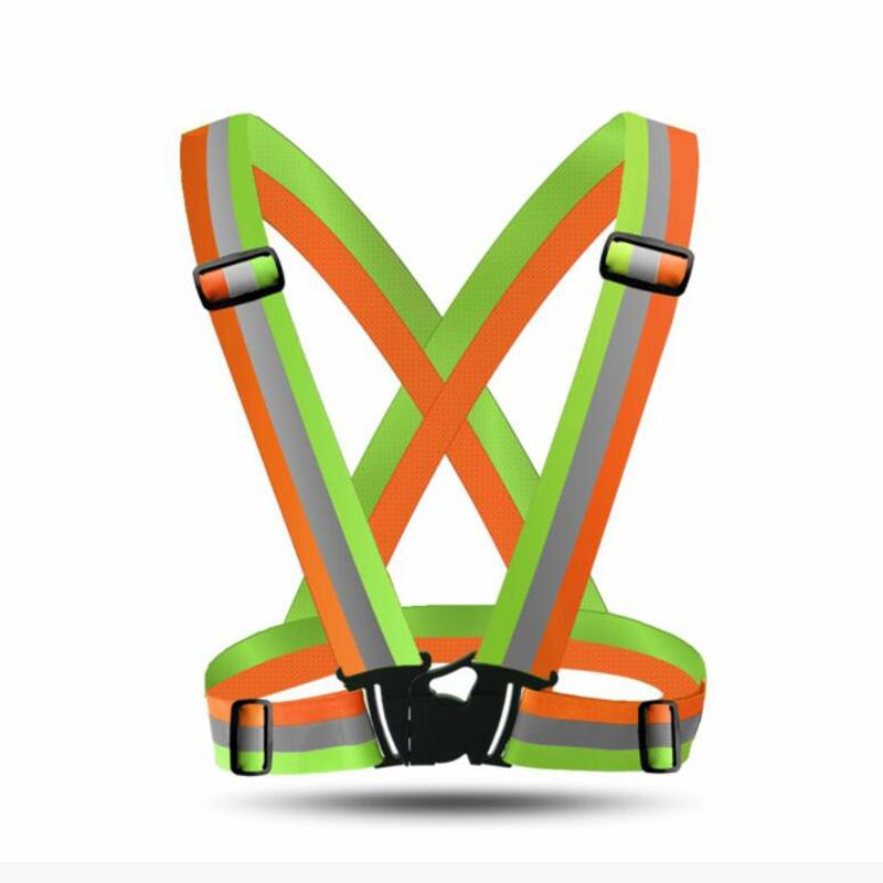 Reflective Vest Adjustable Safety Elastic Vest Reflective Night Warning Safety Outdoor For Running Cycling Sport Construction