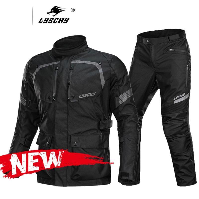 Jacket LYSCHY Motos homens Windproof Moto Waterproof Jacket Proteção Black Gear Motocross Off-Road com CE Protector