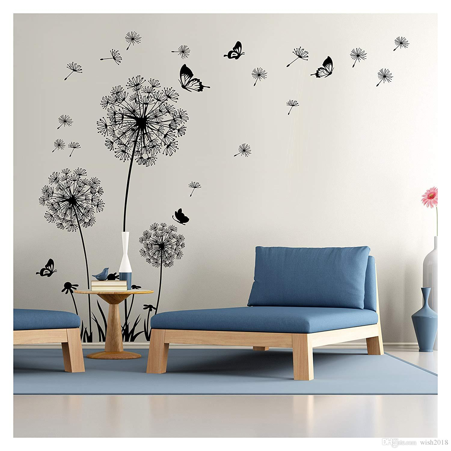 Wall Decal Dandelion Wall Mural Peel And Stick Removable Vinyl Wall Sticker Home Decor Sticker For The Wall Decoration Sticker For Wall From Wish2018