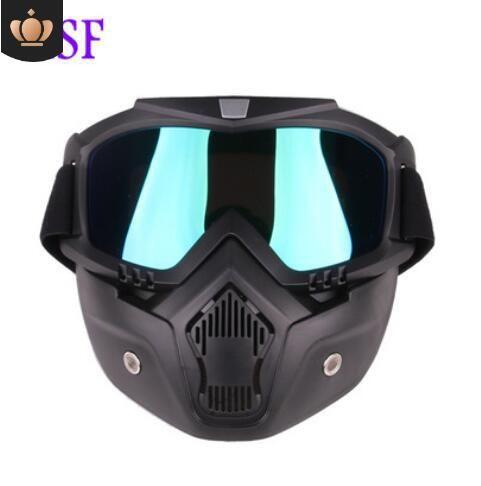 Heiß-Verkauf modularl abnehmbare Brille und Mundschutz offenes Gesicht halbMotorradHelm oder Vintage Helm