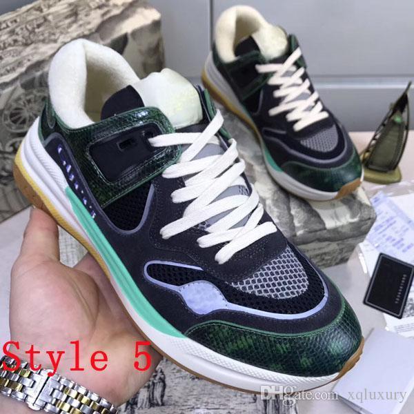 lujodiseñador de invierno Los nuevos estilos de diseño de lujo de la marca y nuevos amantes de los deportes de respiración cordones de la zapatilla de deporte zapatos de lujo de alta calidad