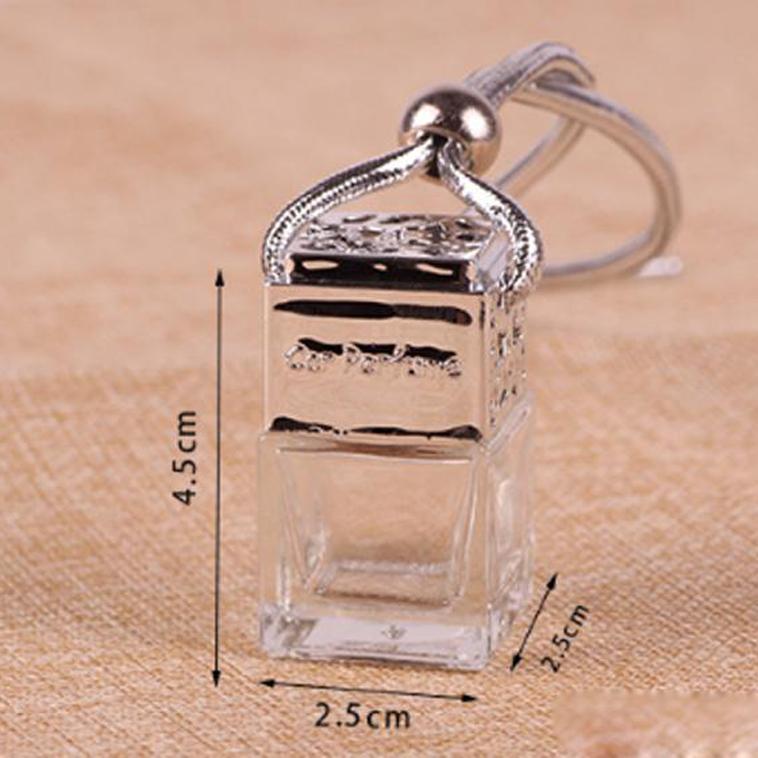 6 ml infusor mayor del coche ambientador de aire Decoración perfume del aceite esencial botellas vacías cuerda de la caída de Pandent aromaterapia difusor 100 piezas