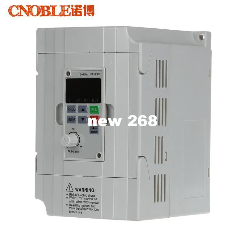 Freeshipping CNC Spindle motor speed control 380v 2.2kw VFD Variable Frequency Drive VFD Inverter 1HP or 3HP Input 3HP frequency inverter