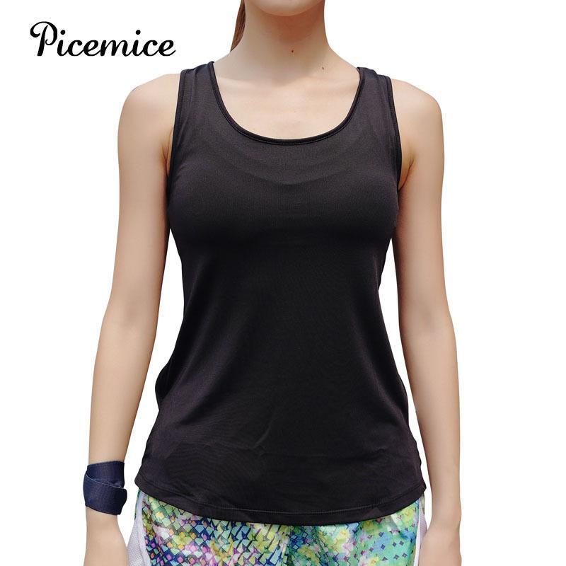 Picemice المرأة الصدرية الجوف التدريجي مثير للياقة البدنية قميص تركيب مطاطا أكمام التجفيف السريع الملابس الرياضية اليوغا الأعلى MX200329