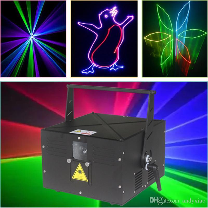4.5W RGB 풀 컬러 레이저 조명 애니메이션 TTL 변조 디스코 쇼 시스템 (무료 이사하)