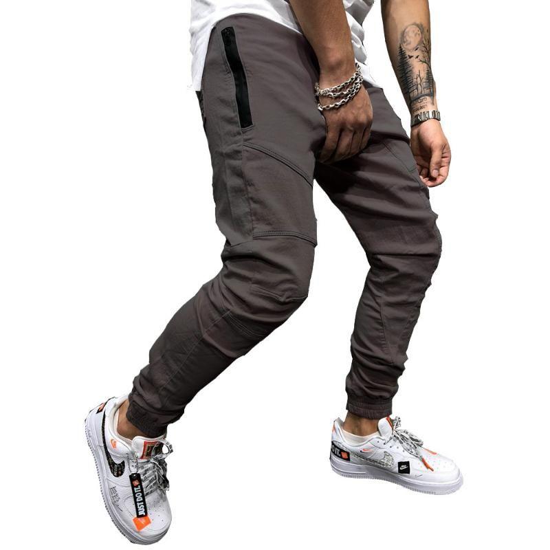 Pantalons Crayon Casual Joggers Sweatpants Hommes Hip Hop Solid Slim Pantalon 2020 Automne Nouveau Homme Mode Streetwear Coton Trackpants