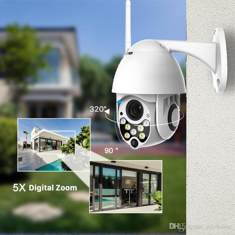 1080P سحابة التخزين اللاسلكية PTZ كاميرا IP 5X التكبير الرقمي سرعة قبة الكاميرا في الهواء الطلق WIFI الصوت P2P مراقبة الدوائر التلفزيونية المغلقة