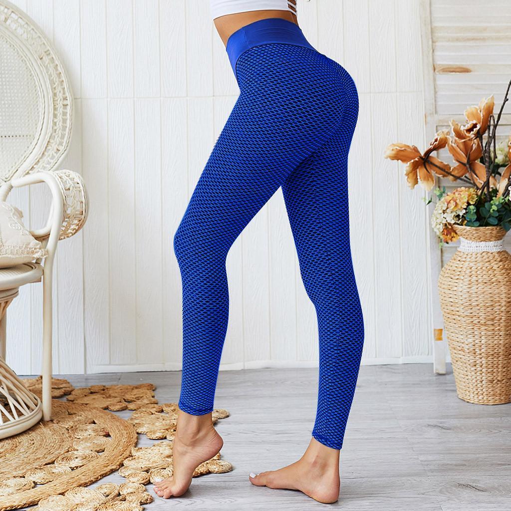 Wholesale-Fashion Yoga Pants Elastic Waist Leggings For Fitness High Waist Sport Leggings Women Yoga Pants Calzas Deportivas Mujer Fitness