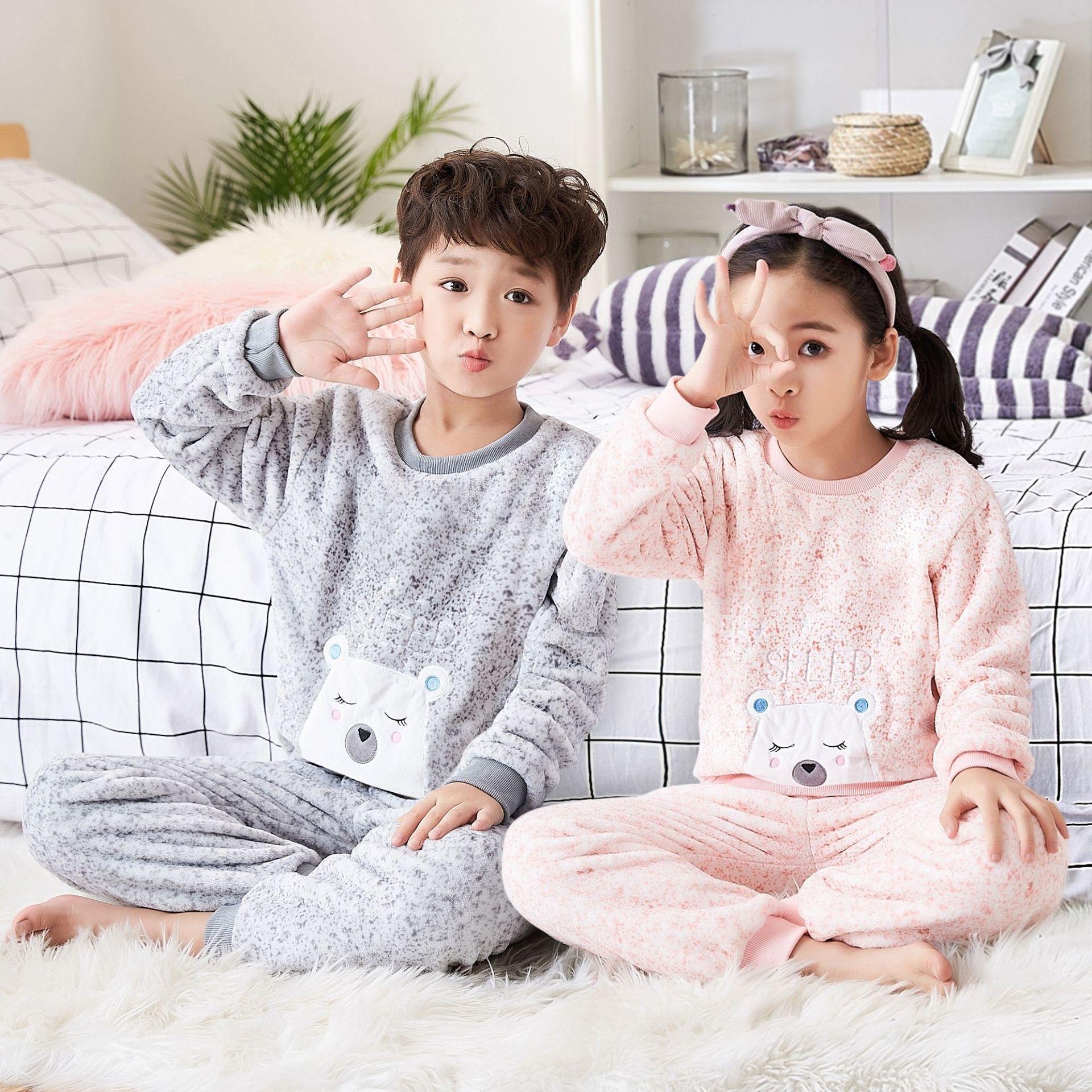 Silver Basic Unisex Baby Boys and Girls Fleece Flannel Novelty Pajamas Winter Warm Bath Robes