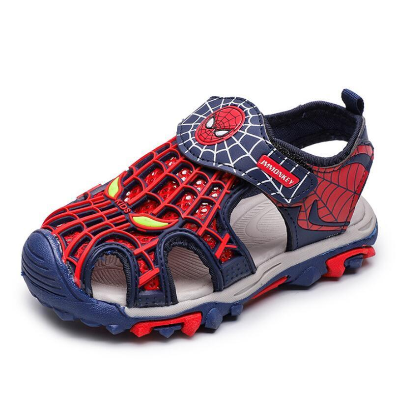 Spiderman Summer Beach Boys Kids Toddler Sandals Closed Toe Athletic Outdoor