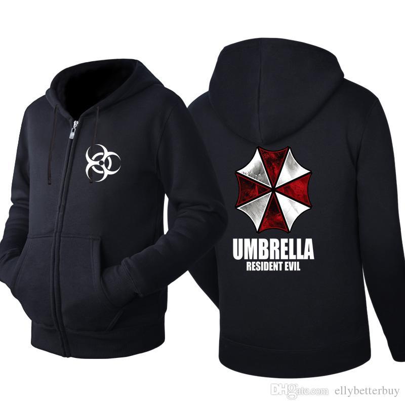 Resident Evil Umbrella Cardigan encapuchado hombres cremallera primavera otoño sudaderas con capucha de manga larga sudaderas masculinas chándal ropa casual ropa