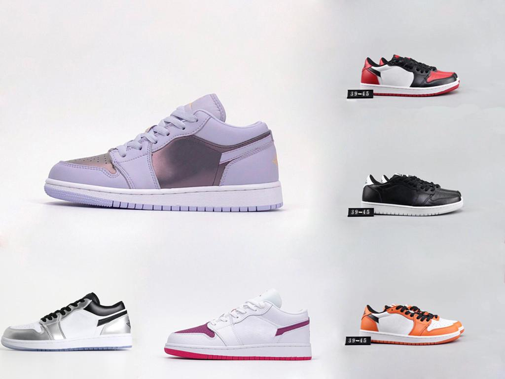 Nuovo 1 basso per aiutare retrò scarpe da basket GS proibiti NRG X Retroes 1S in bianco e nero viola scarpe basse 1 OG MID X uomini e donne scarpe basse